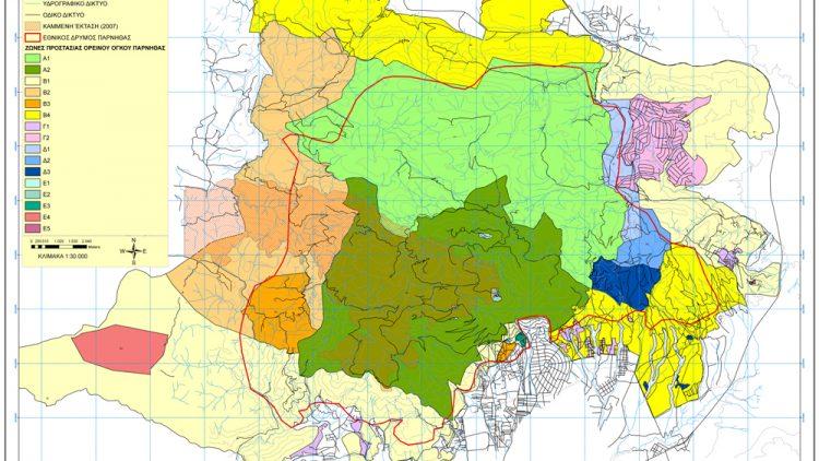 Αναδάσωση Πάρνηθας (χάρτης)