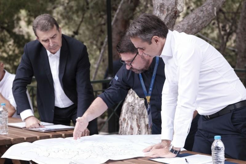 Επίσκεψη του Πρωθυπουργού Κυριάκου Μητσοτάκη στον Υμηττό